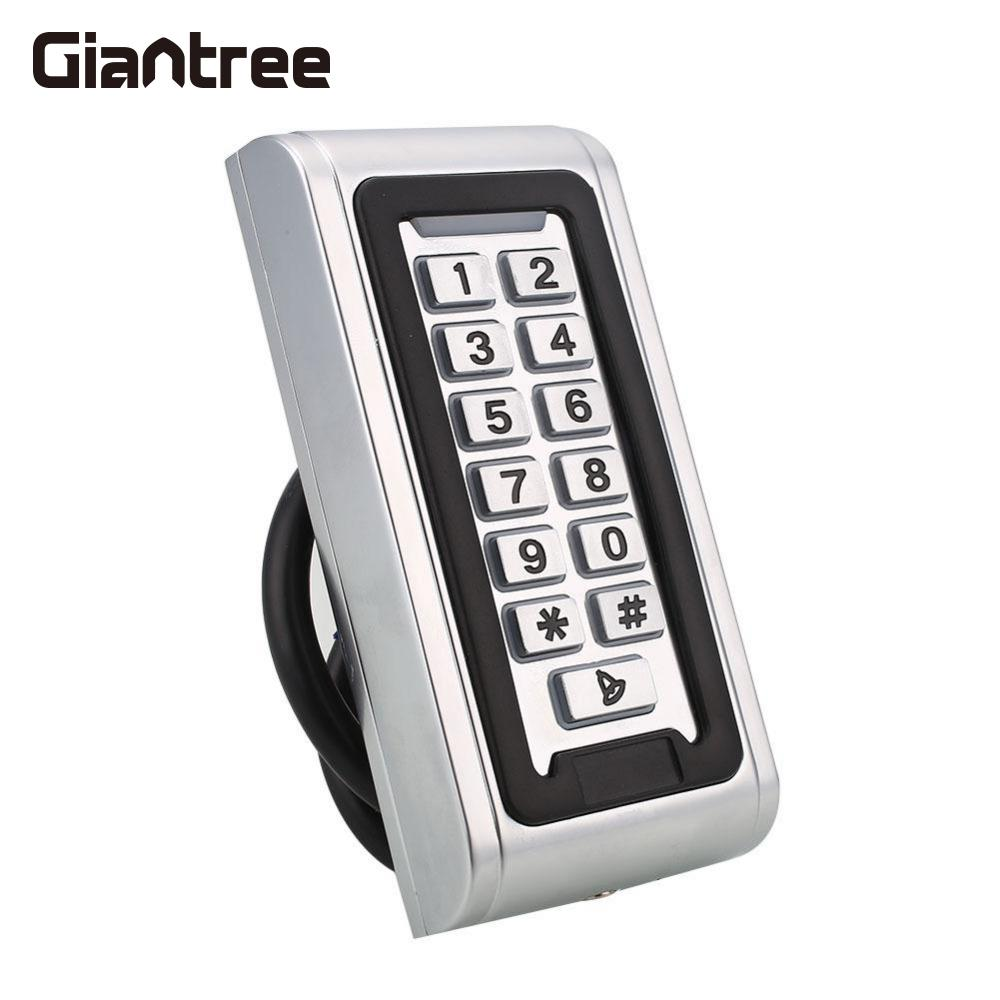 Giantree 125Khz Metal IP65 Waterproof Access Control Door RFID Card Keypad Access Control + 10 Keyfobs Tags metal rfid em card reader ip68 waterproof metal standalone door lock access control system with keypad 2000 card users capacity