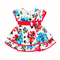 Toddler Girl Dress Summer Cute Floral Kids Princess Dress Girls Baby Clothes High Quality Flower Bow