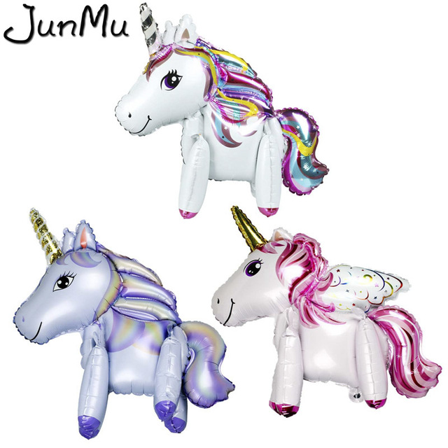 3 style foil unicorn rainbow 3d balloons birthday party decorations kids happy birthday letter balloons unicorn