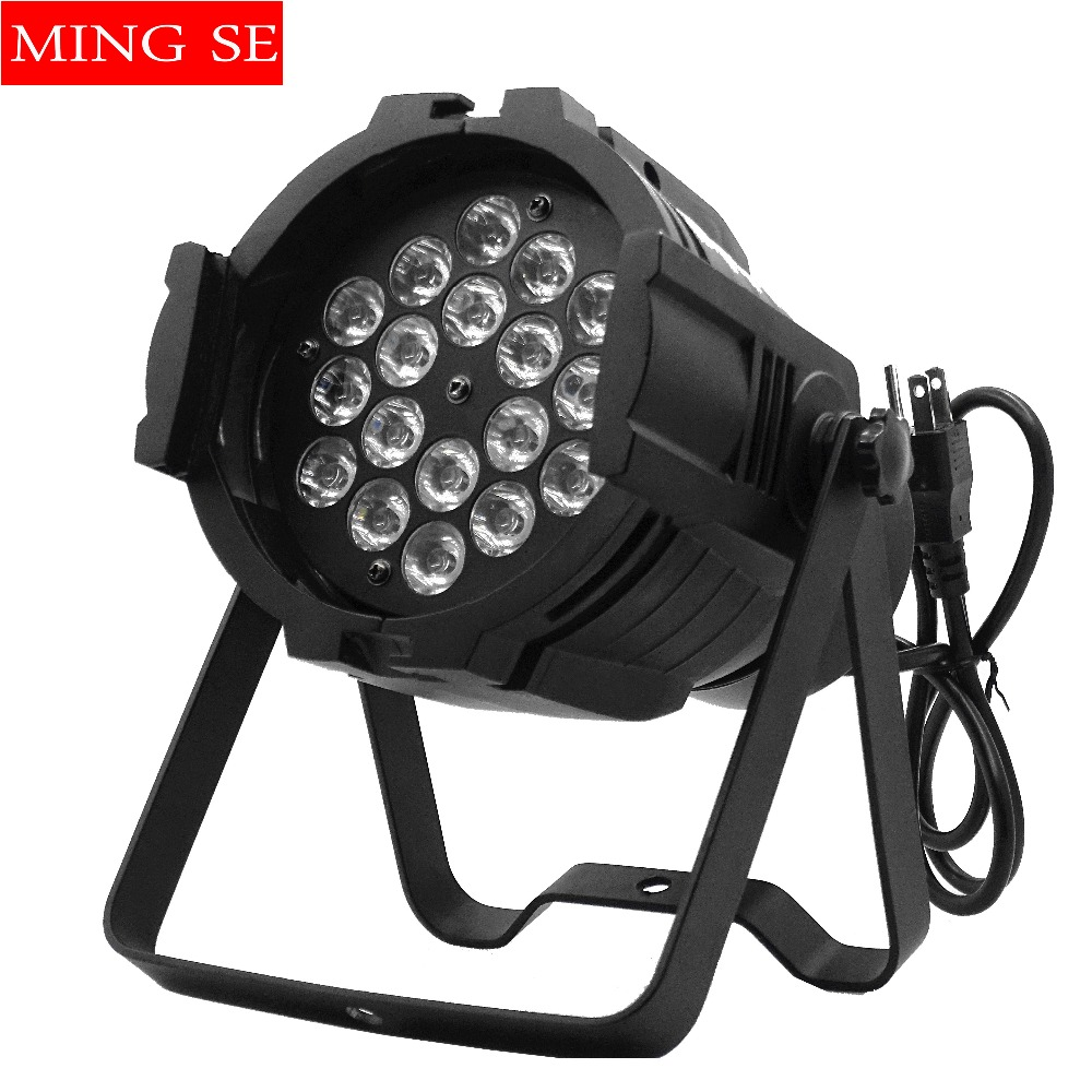 18x3w Aluminu LED Stage light RGB Par projector With DMX512 Master Slave Laser DJ Equipments luzes para festa 110V-240V ac100 240v 18 1w led stage light high power rgb par light dmx master slave led flat dj equipments luzes para festa disco lamp