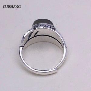 Image 4 - CSJ 100% 天然ラブラドライトリングスターリングシルバー女性ファムレディウェディング婚約指輪パーティーギフトファインジュエリー