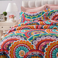 Free shipping 100%cotton 3 pcs bohemia national style coverlet full/queen size applique patchwork quilt bedspread
