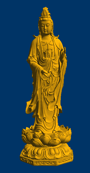3D STL Model For CNC Router Mill Relief 3 Buddha Very Small Size