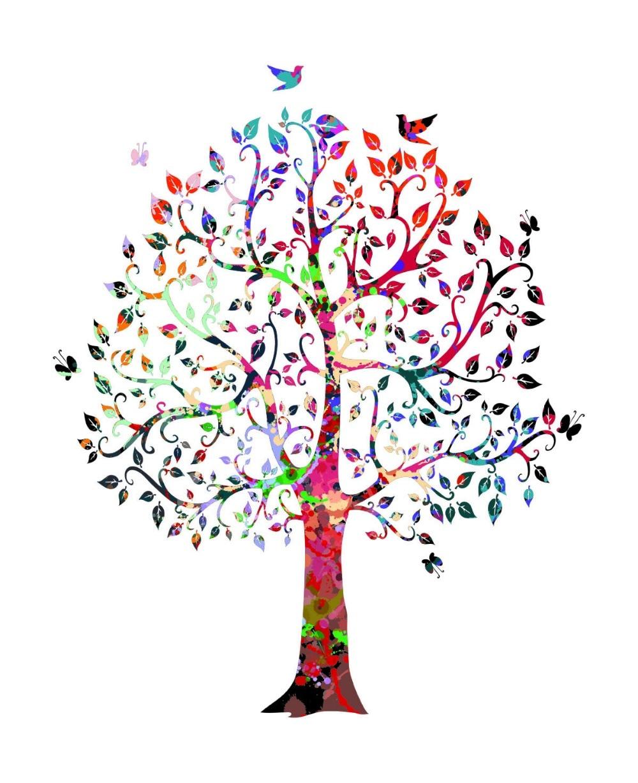 Jual Wall Art Print : Tree nature love watercolor print wedding gift archival