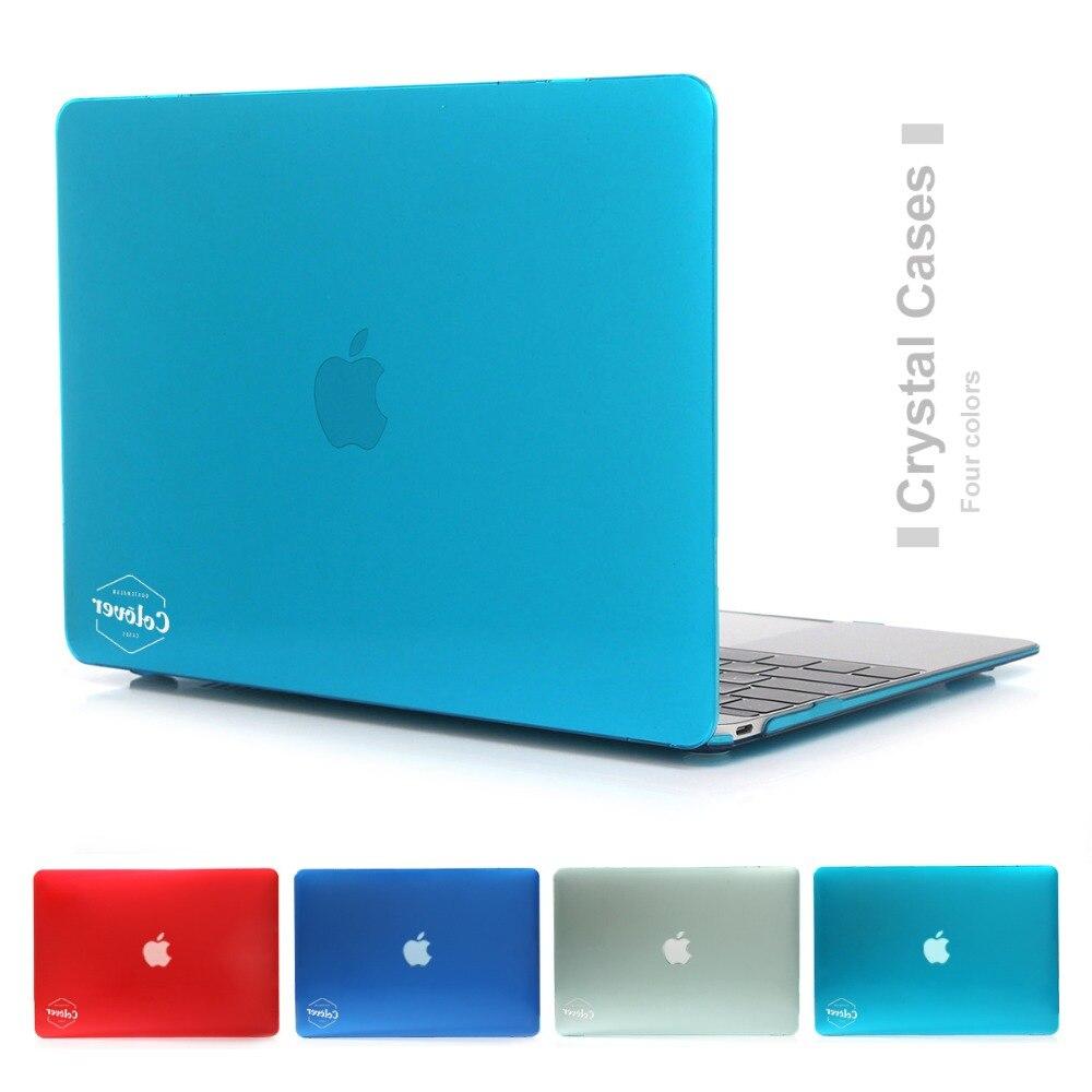 Nuevo logotipo de cristal/mate bolsa caso para Apple Macbook Air Pro Retina, 11 12 13 15 portátil para Mac libro de 13,3 pulgadas