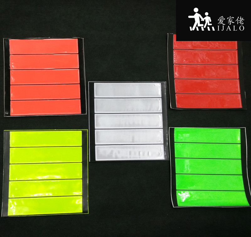 Wholesale 50 sheets,RECTANGLE Reflective safety sticker,for bag motorcycle bicycle scooter any where for visible safety