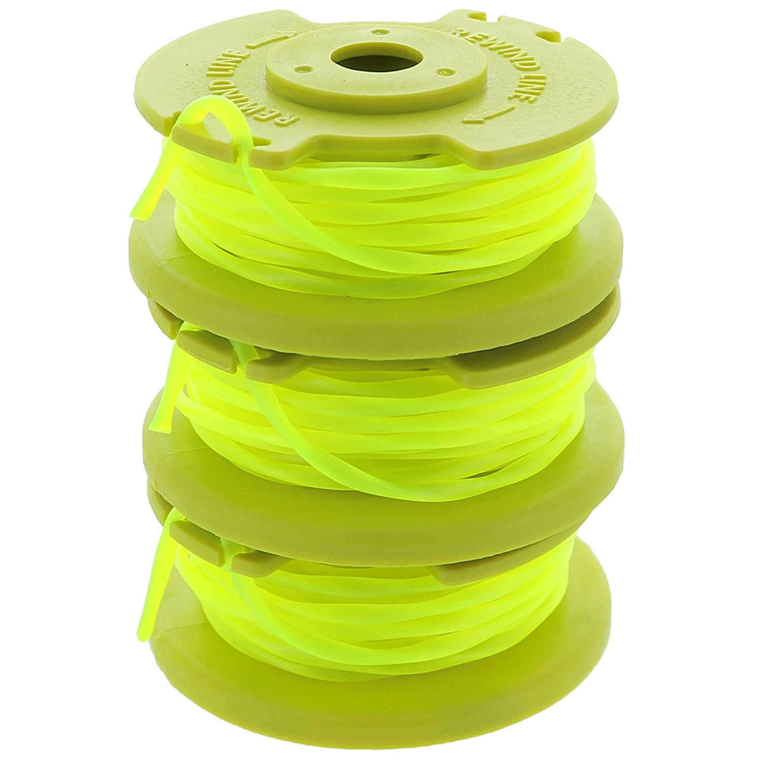 Pro For Ryobi One PLUS AC80RL3 OEM .080 Inch Twisted Line and Spool Replacement for 18v, 24v, and 40v Cordless Trimmers (3 Pack)