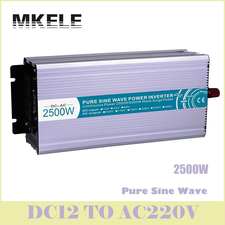 цена на MKP2500-122 Power Inverter 2500w Pure Sine Wave DC12v To 220v Ac Voltage Converter Solar LED Displa Inversor China