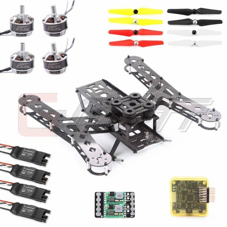 GARTT PLUTO-X2.5 Interstellar 250 Carbon Fiber Mini 250 FPV Quadcopter Frame COMBO drone with camera rc plane qav 250 carbon frame f3 flight controller emax rs2205 2300kv motor fiber mini quadcopter