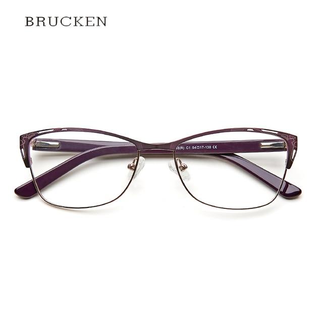fc36f8e2192c Metal Eyeglasses Frame Women Purple Retro Clear Vintage Cat Eye Glasses  armacao de oculos de grau para mul TWM7553C1