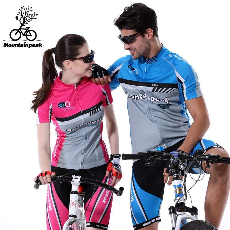 ФОТО MTP Short Sleeve Cycling Jerseys Summer Women's Cycling Suits Mountain Bike Prevented Bask Breathable Coat Short Pants