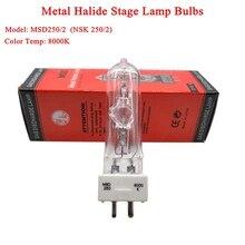 Новинка 2021, сценическая лампа для диджея, MSD 250/2, MSD250W, Вт, 90 в, MSR, лампочка NSD 8000K, металлическая галогенная лампа, движущаяся головка, лампочки