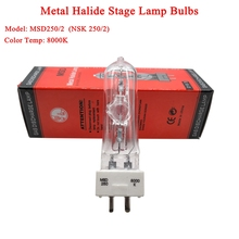 2021 New Stage DJ Light Lamp MSD 250/2 MSD250W Watts 90V MSR Bulb NSD 8000K Metal Halogen Lamp Moving Head Lights Bulbs