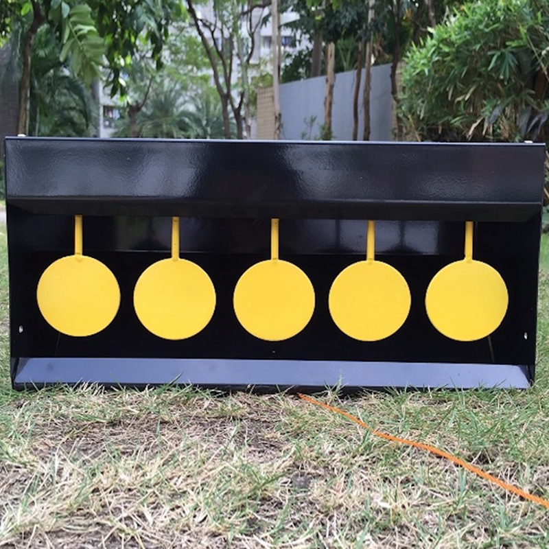 Full Steel Design Box Black Pellet Trap with Yellow Target Plates Target Thickness: 3mm Also suitable for Paintball