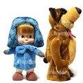 Электрический Говоря Маша И Медведь Музыкальные Танцы Русский Язык Чучела Плюшевые Куклы Toys For Kids