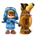 Electric Talking Musical Dancing Masha And Bear Russian Language Stuffed Plush Dolls Toys For Kids