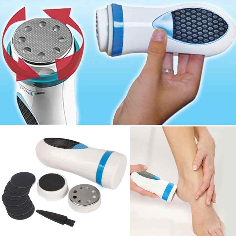 Высокое качество Pedi СПИН ТВ устройство для удаления огрубевшей кожи Электрический шлифовальный Уход за ногами Pro педикюр комплект ног файла жесткий кожи мозолей Remover
