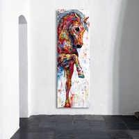 HDARTISAN настенная живопись на холсте с изображением лошади, постеры, рисунки животных, домашний декор, без рамки