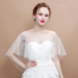 Beaded Wrap Shawl Cape Bridal Wedding Jacket Women Bolero