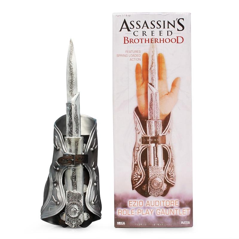 цена Cosplay 1:1 NECA Assassin's Creed Hidden Blade Weapon Brotherhood Novelty Toys Boxed онлайн в 2017 году