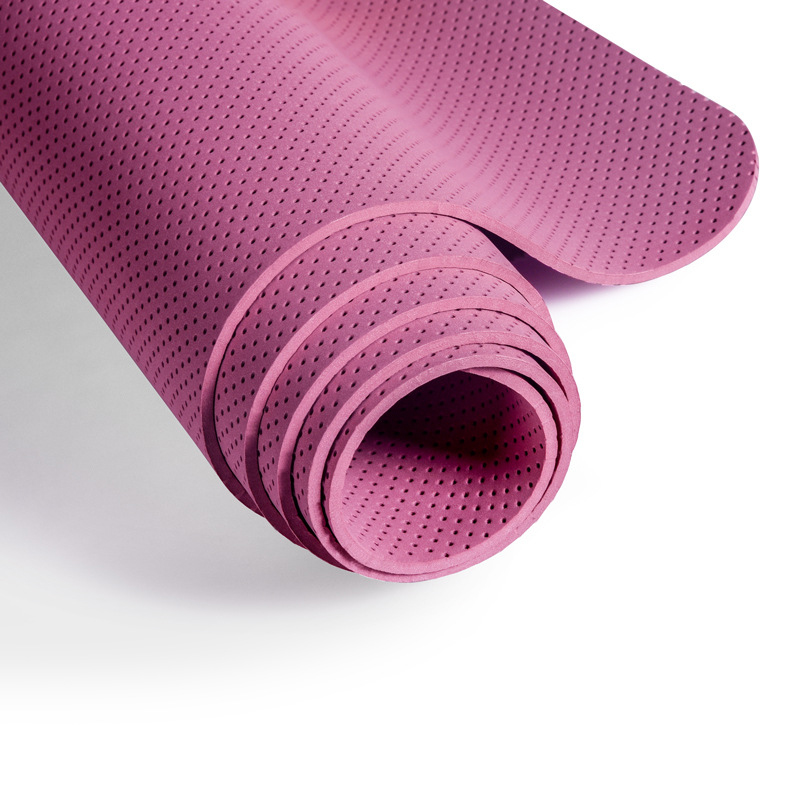 TPE Environmental Perforated Breathable Honeycomb Pad 176625mm Double Color Yoga Mat Defective Items Clearance Promotion