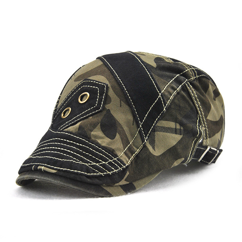 Casual Unisex Beret Hats Camouflage Duckbill Casquette Boina Buckle Visors Golf Driving Flat Detective Hat Casquette Newsboy Cap