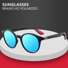DESIGN Men Women Classic Retro Rivet Polarized Sunglasses Lighter Design Oval Frame UV400 Protection De Sol