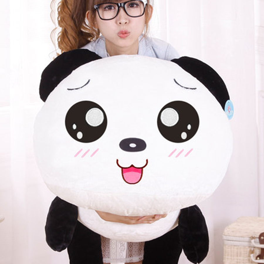 New Panda Plush Toys Lovely Kawaii Panda Plush Pillows Soft Toys Stuffed Animals 100% PP Cotton Wedding Birthday Gift 70C0044 hot sale cute dolls 60cm oblong animals pillow panda stuffed nanoparticle elephant plush toys rabbit cushion birthday gift