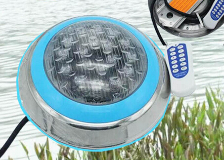 LED RGB Underwater Swimming Pool Light Stainless Steel/Wall Surface Mount,AC12V Waterproof IP68, Wireless RF IR Remote Control