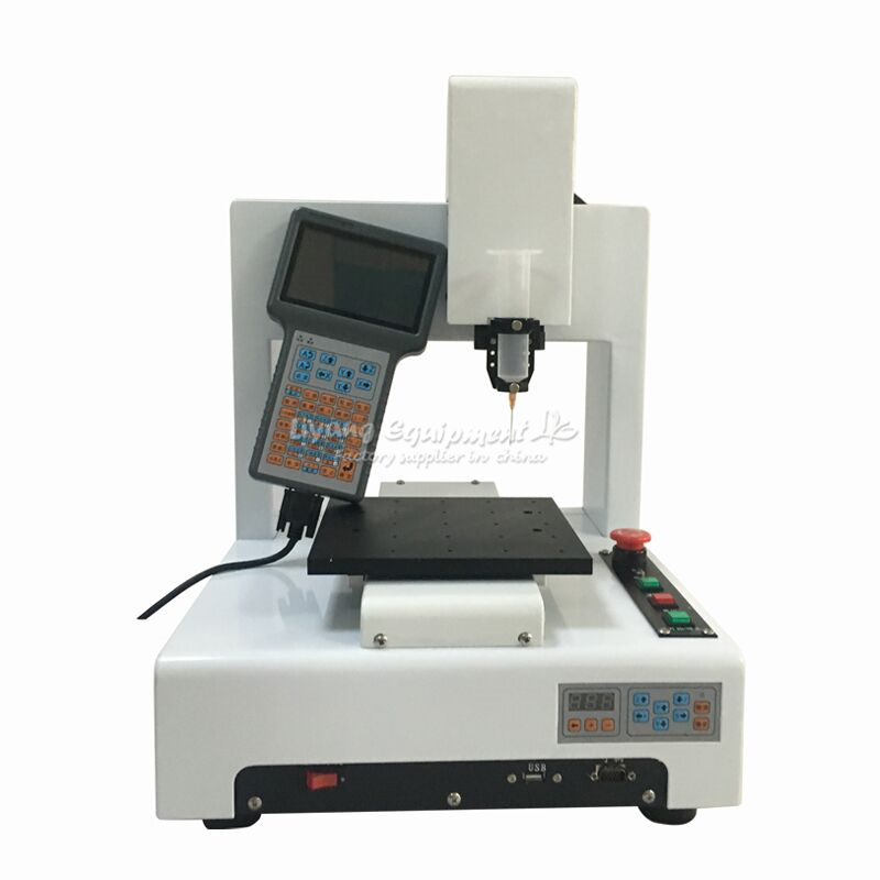 LY 221A mobile frame automatic glue dispenser 3 axis with handwheel