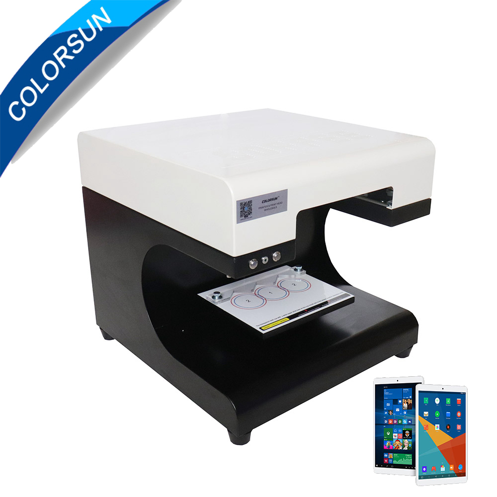 2 cups coffee digital latte art coffee printer coffee machine with tablet with 4*100 edible ink free coffee art