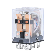HH62P LY2NJ JQX-13F LY2 Mini Electromagnetic Relays AC 220V 110V DC 24V 12V 10A DPDT 8 Pin Copper Coil Power Relay Switch LED