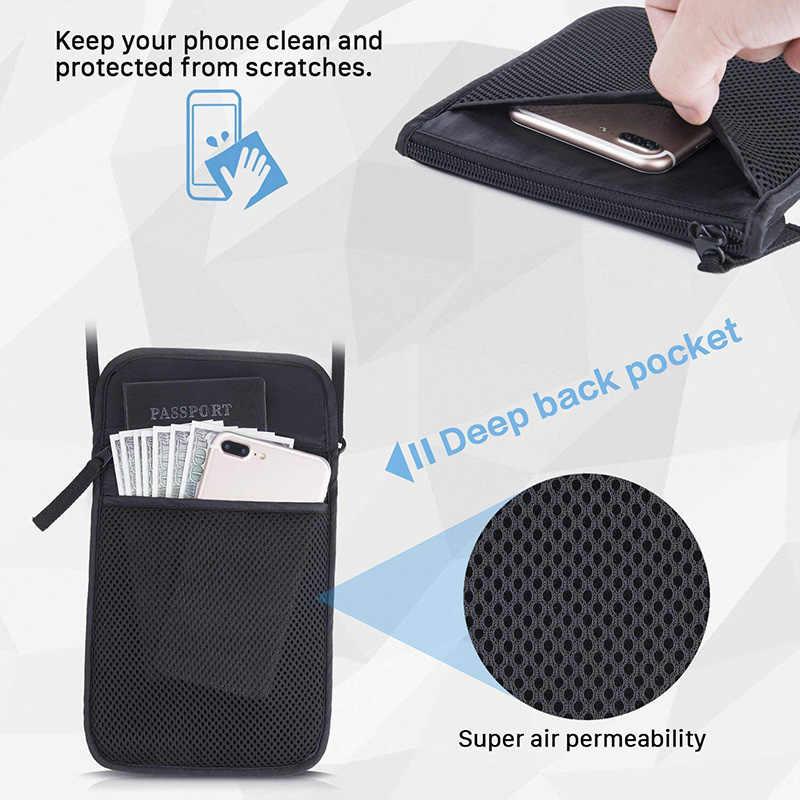 KUDIAN BEAR нейлоновая Противоугонная дорожная сумка для паспорта на шею сумка для путешествий Органайзер для документов большая емкость дорожные кошельки BIH073 PM49