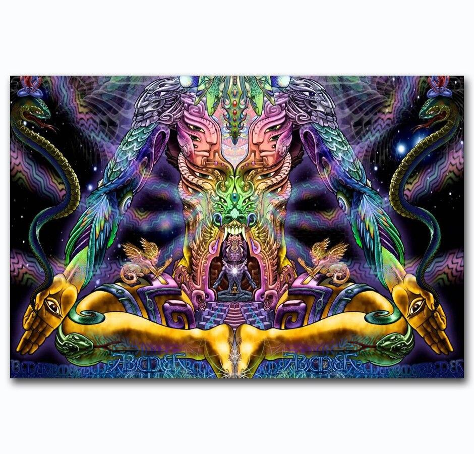Nuevo y novedoso póster de Arte de seda de Dios Visual Trippy psicodélico decoración de la pared de regalo 5 mW 5 KM localizador de fallas visuales equipo de prueba de Cable láser de fibra óptica