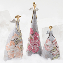 Creative flower angel desktop home decoration accessories modern Living room gift christmas decorations for
