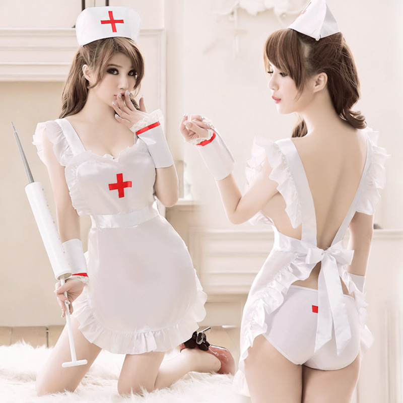 2018 new purple black erotic uniform womens underwear sexy lingerie lace nurse cute sleepwear pajamas conjoined dress