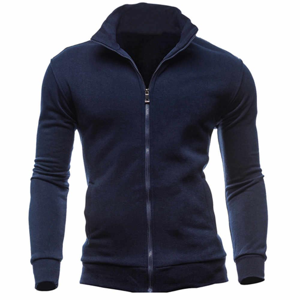 Männer Herbst Winter Langarm Sport Zipper Pullover Bluse Tops Männer Herbst Winter Lange Hülse Sweatshirt Plus Größe