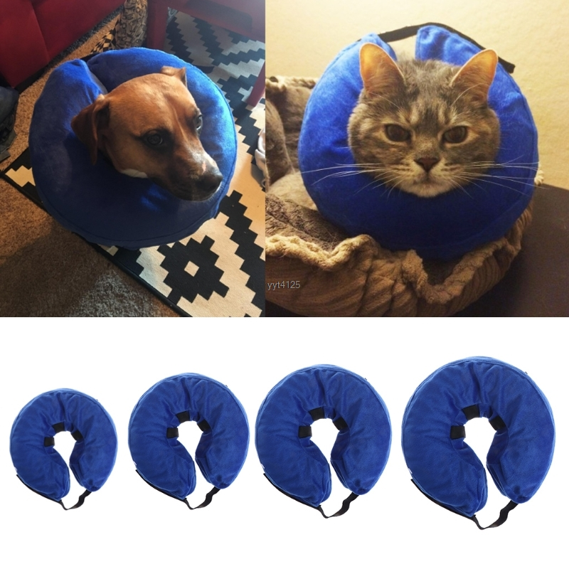 Pet Cat Dog Supplies Swimming Collar Anti Bite Safety Inflatable Neck Float Dogs Puppy Protector Mar
