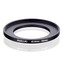 Оригинальный RISE (Великобритания) 40,5 мм 55 мм 40,5 55 мм 40,5 до 55 повышающее Кольцо фильтр адаптер Черный