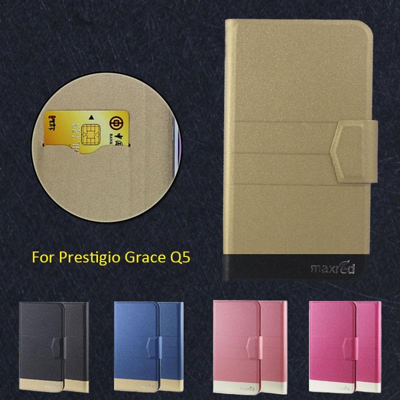 Super! prestigio gracia q5 caja del teléfono, 5 Colores de la Alta calidad Del