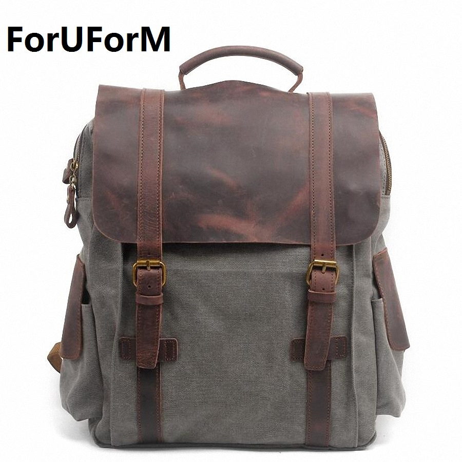 Pretty style High Quality Men Backpack Solid Men's Travel Bags Canvas Bag mochila masculina bolsa Laptop school backpack LI-1263 filtero sie 01 xxl экстра