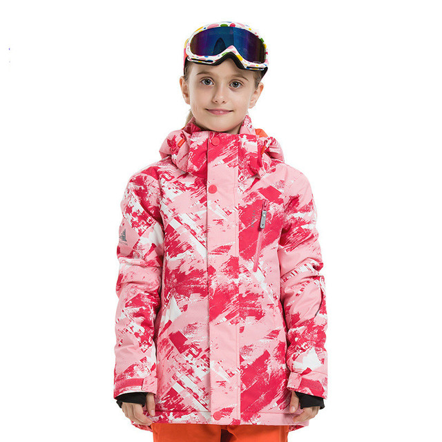 New winter boys and girls print camouflage ski suit warm windproof printed snowsuit children's snow suit