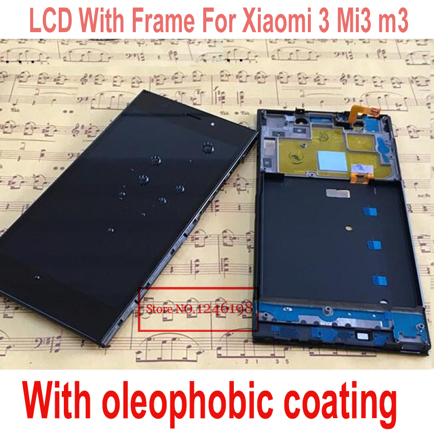 WCDMA version Full LCD Display + Touch Screen For Xiaomi m3 mi3 with Digitizer + Frame Assembly with oleophobic coating