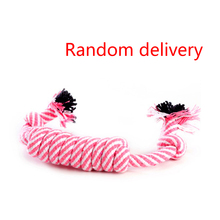 Pet Dog Puppy Cute Cotton Braided Bone Rope Chew Knot Toy Pet Toys Molar Toys