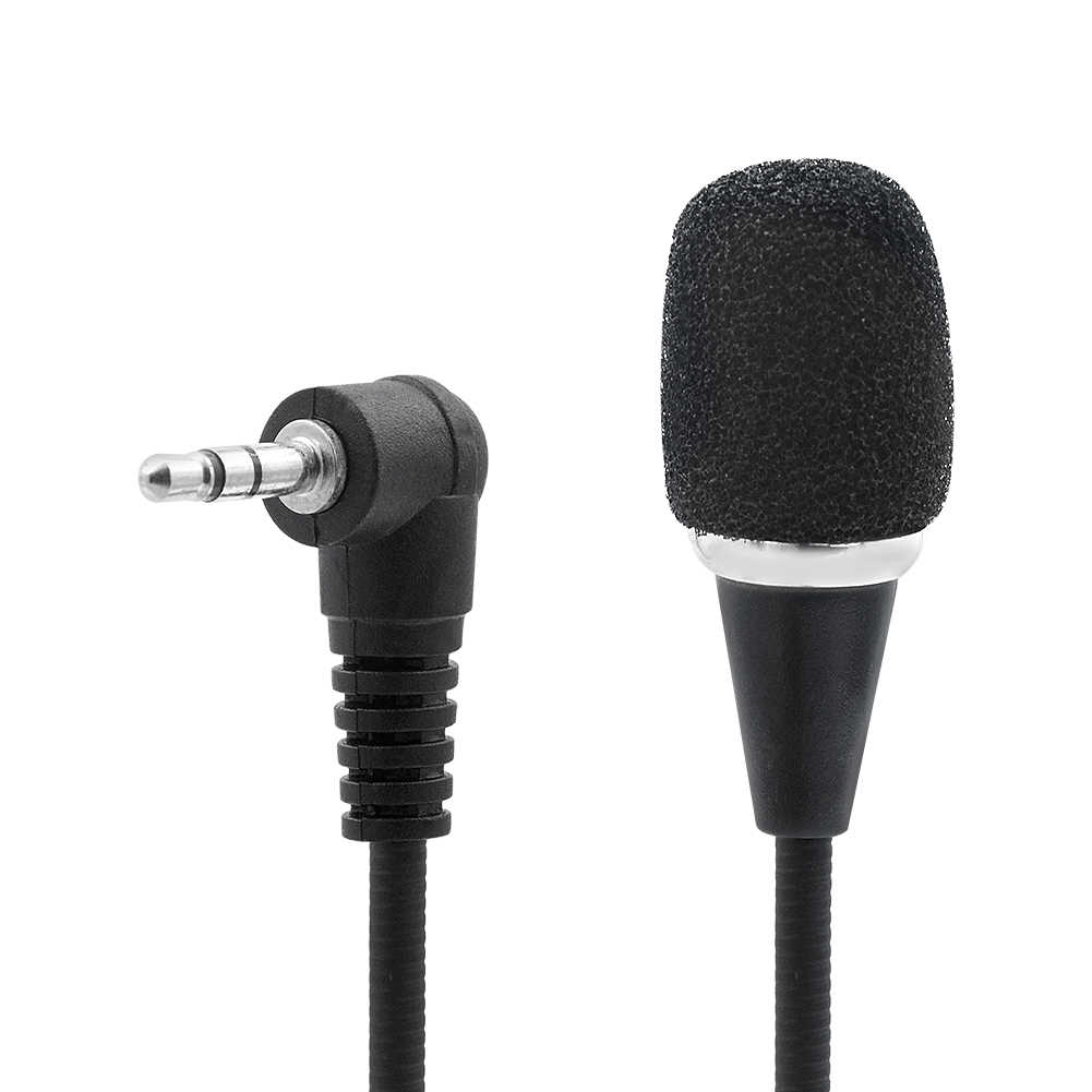 Мини 17 м длинный кабель 3,5 мм Черный Гибкий микрофон Микрофон для смарт мобильный телефон ПК компьютер VoIP MSN Skype Чат онлайн игровой