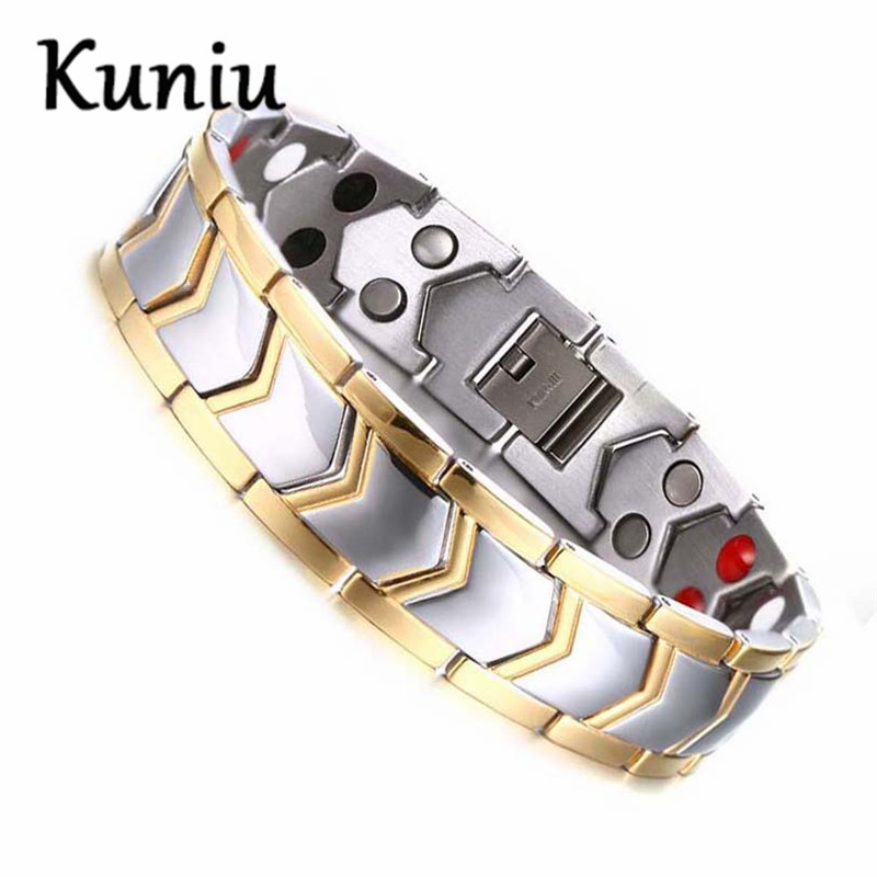 KUNIU High quality Mens Healthy magnetic bracelet New Fashion Bio Energy Magnetic bracelets & bangles Dropshipping