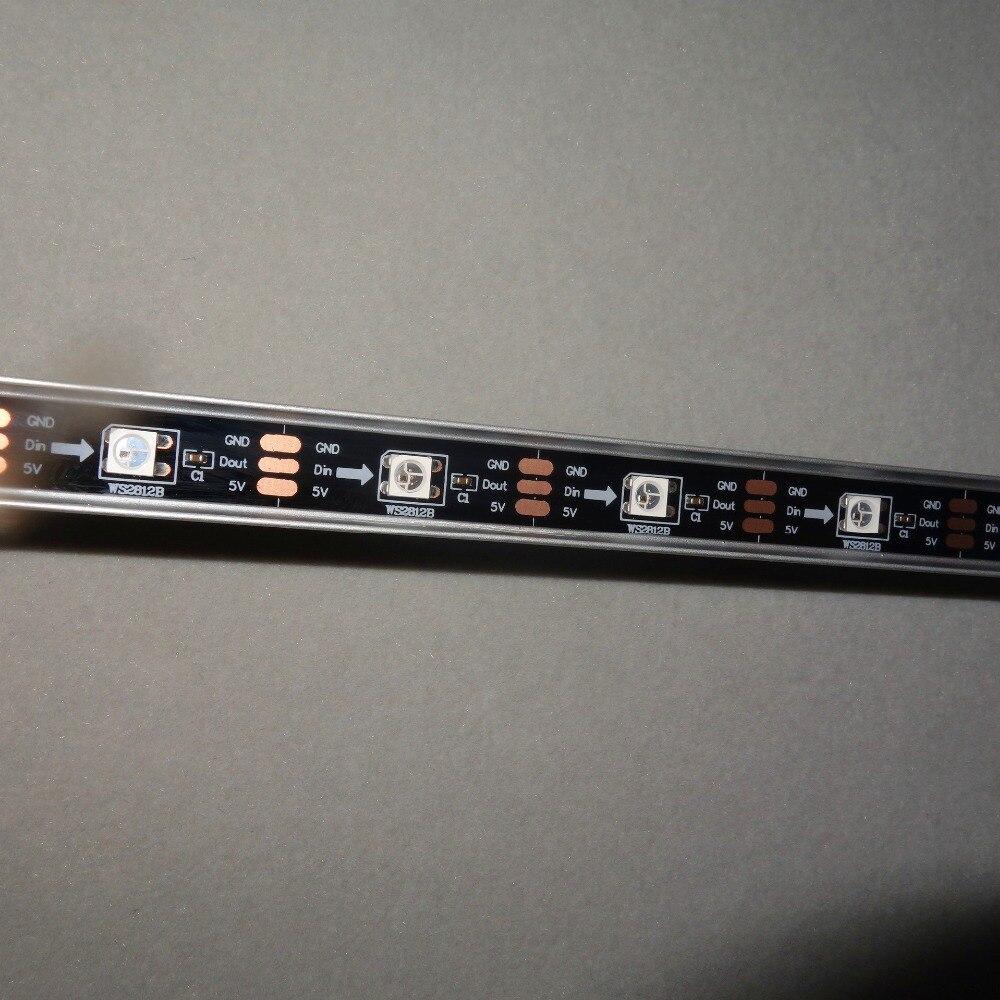 1 Mt Lange Adressierbaren Ws2812b Dc5v 32 Leds Led Digitalen Bar Licht; Ip68, U Typ Alu Shell; Schwarz Pcb Gesundheit FöRdern Und Krankheiten Heilen