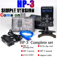 Pro Advanced Quality Compact Version Black Hurricane HP 3 Screen Touch Tech LCD Display Tattoo Power Supply