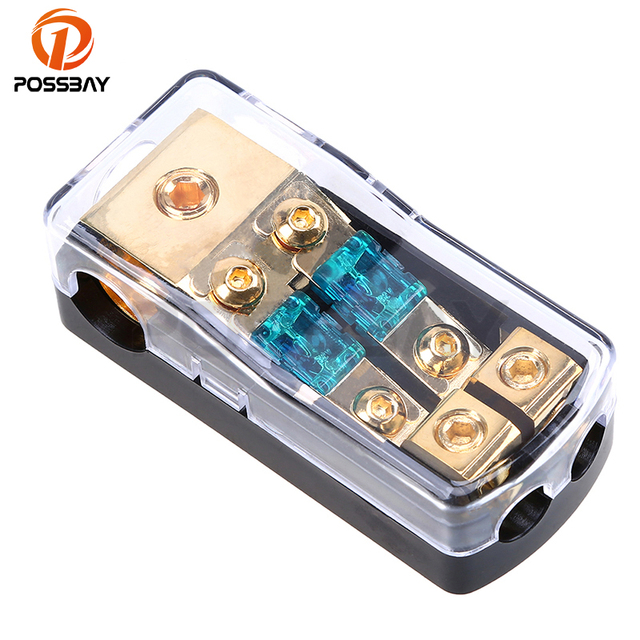 possbay 30a 60a 80a 100a 150a car audio fuse circuit breaker fuse Breaker Fuse Box Chart possbay 30a 60a 80a 100a 150a car audio fuse circuit breaker fuse box in 1 out 2 fuse holder insurance block