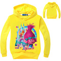 2016 Summer Kids Good Luck Trolls Long Sleeve Tees Clothing Children T Shirts Cotton Youth Girls T-Shirts Clothes DC1086